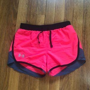 Girls Under Armour Heat Gear shorts, size YMD